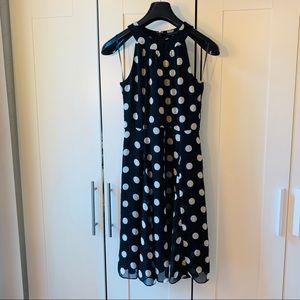 Tommy Hilfiger Polka Dot Chiffon Dress